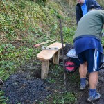 Installing bench in the Reserve - 2nd Febuary 2013.